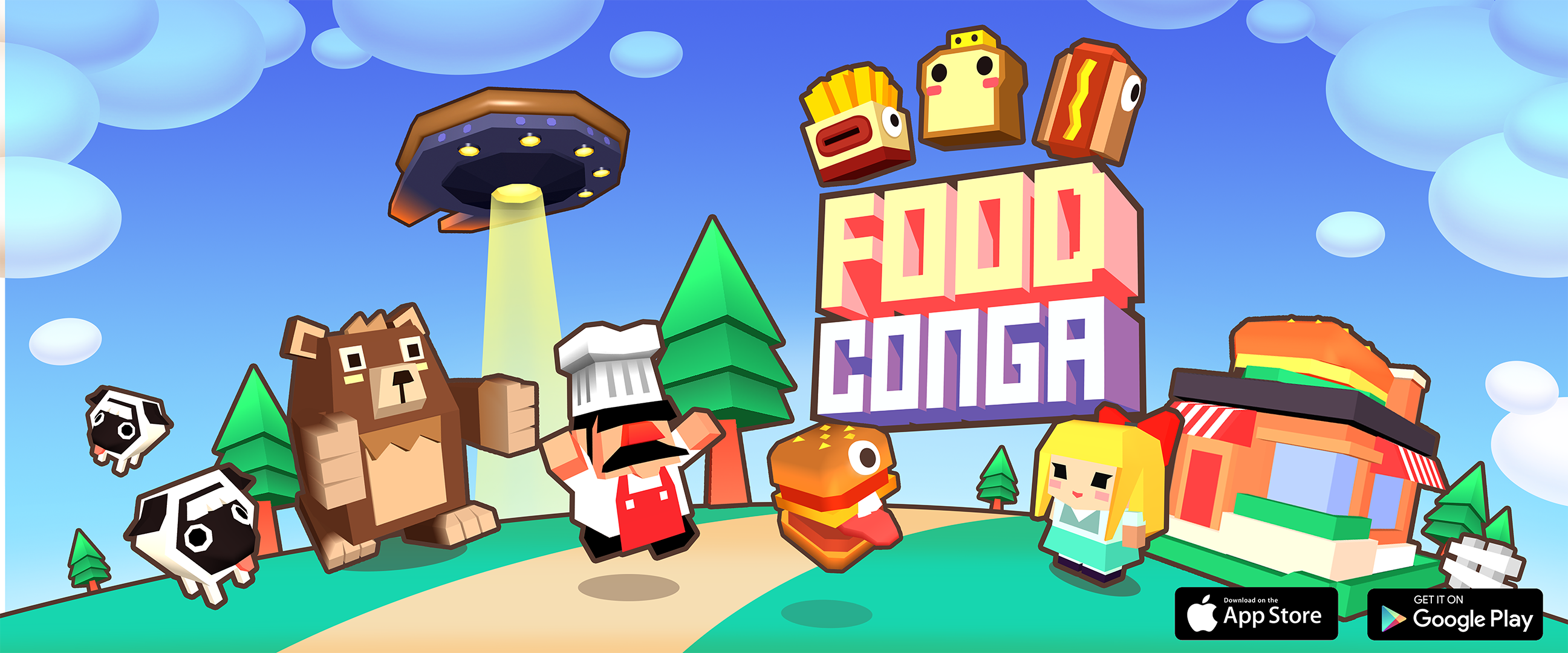 Food Conga is available on iOS & Android